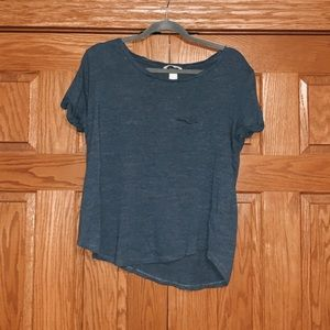 settle blue short sleeve T-shirt